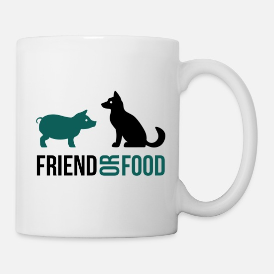 Food Tassen & Becher - Friend or Food - Tasse Weiß