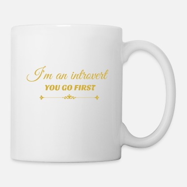 Friendship you go first metalic gold.png - Mug