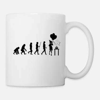 Evolution Evolution Geburtstag Birthday Party kuchen - Tasse