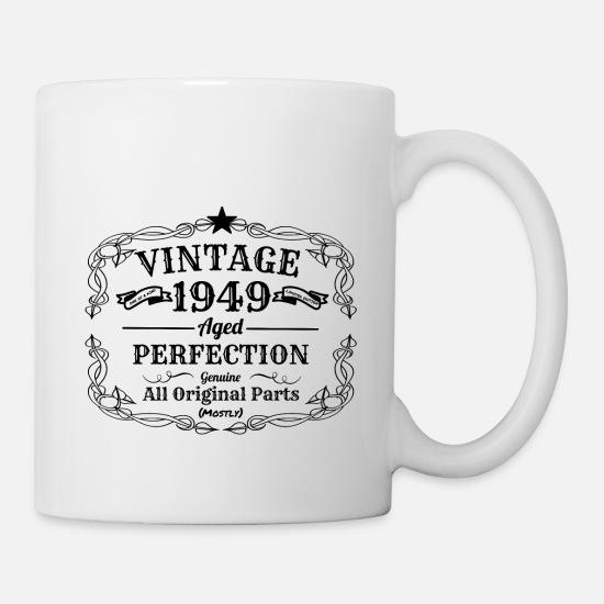 Vintage 1949 I 70 Geburtstag Opa Oma Geschenk Tasse Weiß