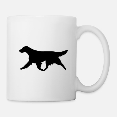 Trot Flatcoated Retriever (Black) Trotting - Mug