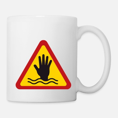 Sign Danger Drowning Warning Sign - Triangle - Mug