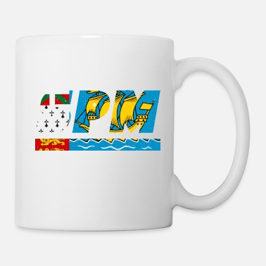 SPM flag flag Saint Pierre and Miquelon Island - Mug