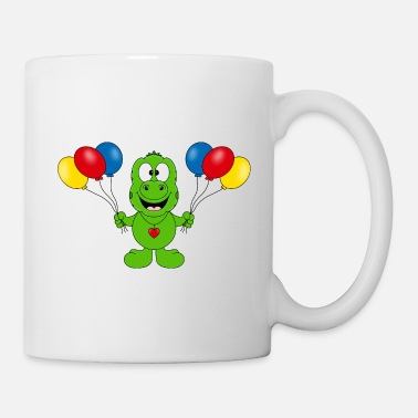 Band Gecko - ballons - enfants - animal - dessin animé - Mug
