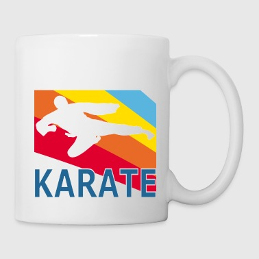 Retron Vintage Style Karate Martial Arts Fighter - Mug