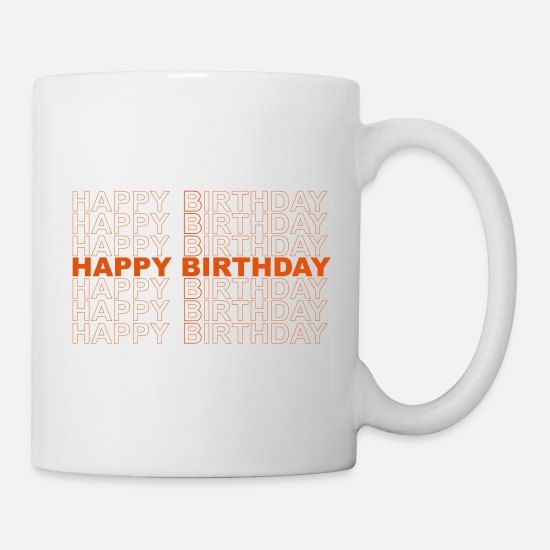 Not Mugs et récipients - Happy birthday - Mug blanc