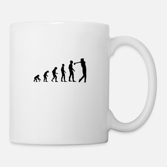 Darwin Mugs & Drinkware - Evolution / Darwin / Golf Design - Mug white