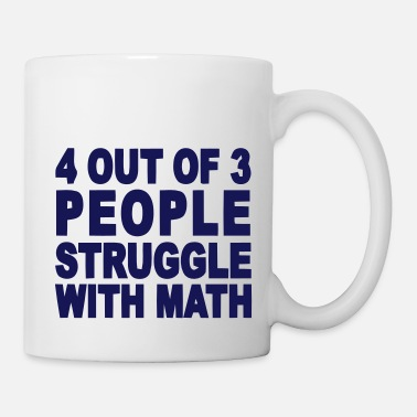 4 Out Of 3 4 out of 3 hate math - Mug