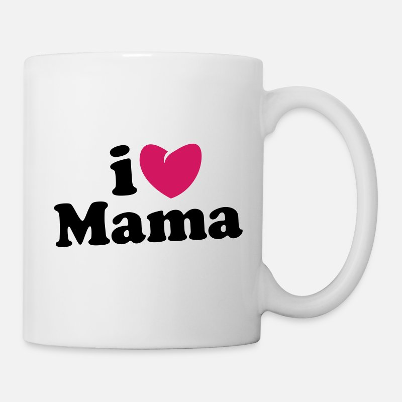 Love Mugs et gourdes - i love mama - i heart mama - ich liebe mutti mom mutter - Mug blanc