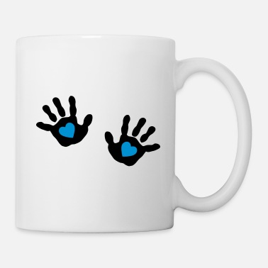 Come baby - hands - handprint - heart - Mug