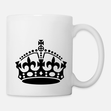 Red keep calm and carry on crown vector - Mug