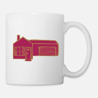 Garage House with garage - Mug