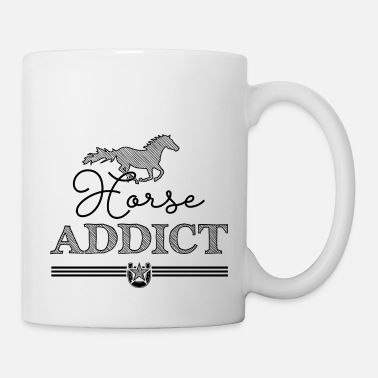 Ecuestre Horse Addict - black Edition - Taza
