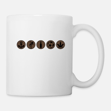 Set St Pauli - Stadtklischee Icon Set - Tasse