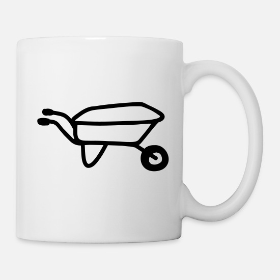 Garden Mugs & Drinkware - Wheelbarrow - line - Mug white