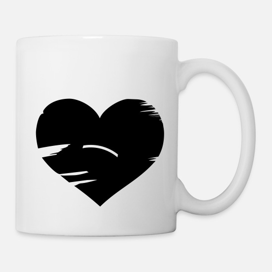 Love Mugs & Drinkware - I love Brasil - Brazil flag heart - Mug white