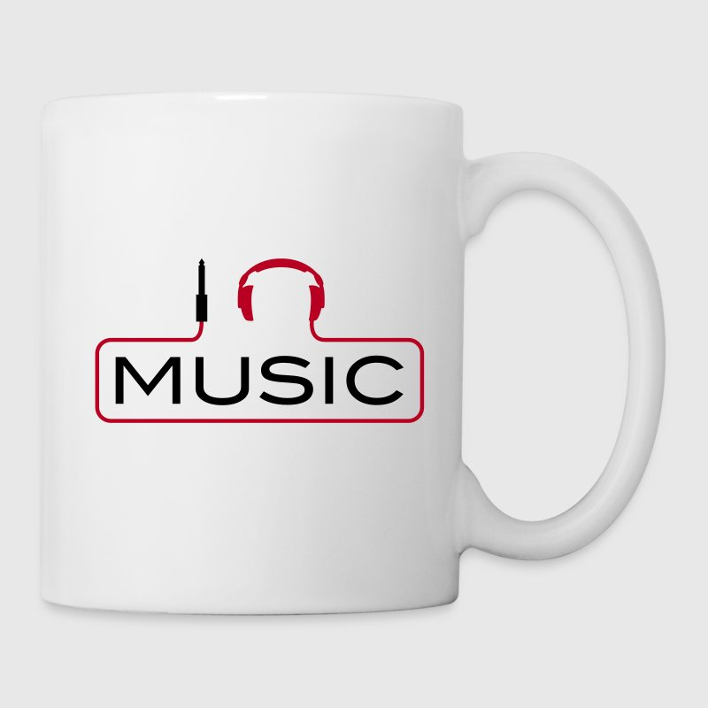 I love music plug headphones sound bass beat catch cable music i love techno minimal house club danc - Mug