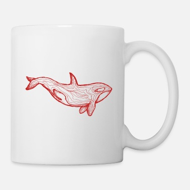 Hipster Roter Orca - Tasse
