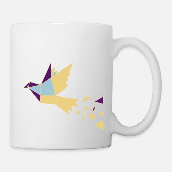 Feather Mugs & Drinkware - bird - Mug white