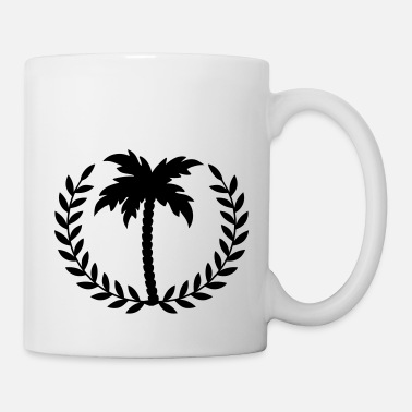 Sunshine palm tree laurel - Tasse