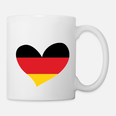 Flag Of Germany Germany, German Flag Heart, I Love Germany - Mug