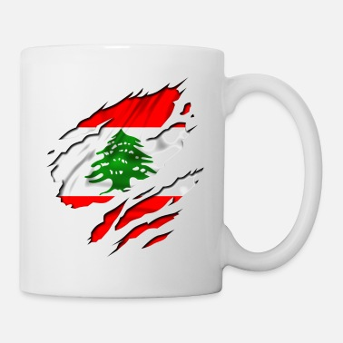 Country Flag Football Sport And Arab Art Jesus country flag lebanon - Mug