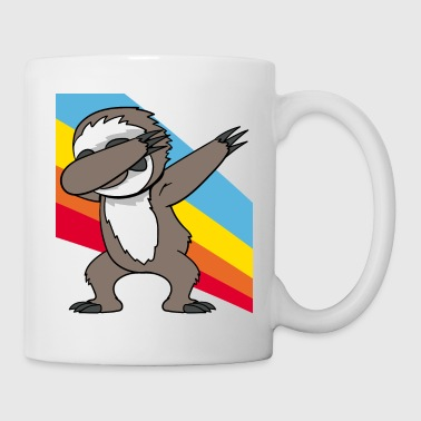 Retro Vintage Style Pop Art Dabbing Dab Sloth - Mug