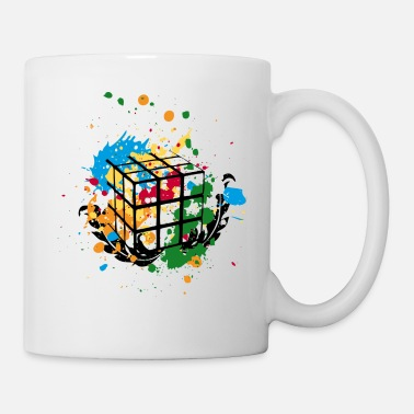 Officialbrands Rubik's Cube Colourful Splatters - Tazza