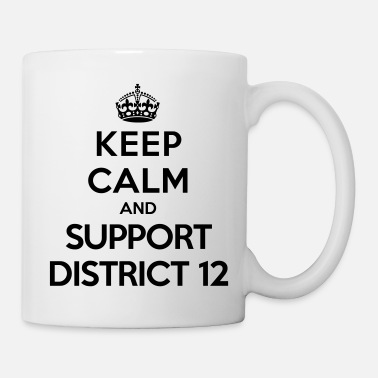 Hunger Keep calm and support District 12 (Hunger Games) - Mugg