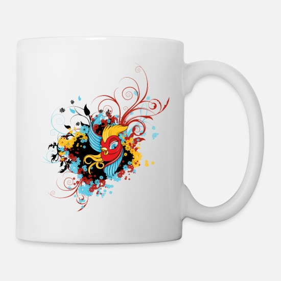 Floral Mugs & Drinkware - Floral Bird - Mug white