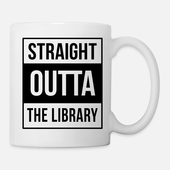 Library Mugs & Drinkware - nerd - Mug white