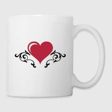 Barockes Herz / Heart with Floral #2_2c - Tasse
