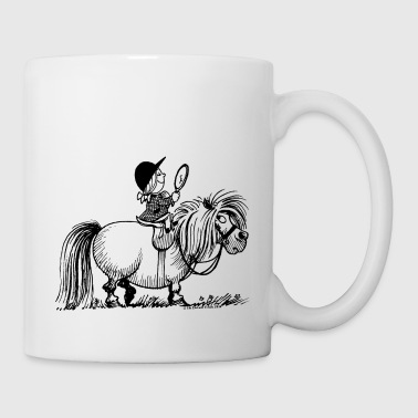 Thelwell - Penelope with a mirror - Mug