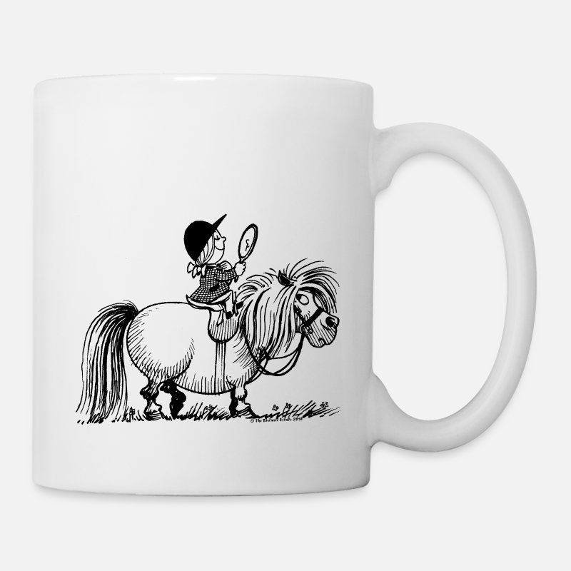 Officialbrands Mugs & Drinkware - Thelwell - Penelope with a mirror - Mug white