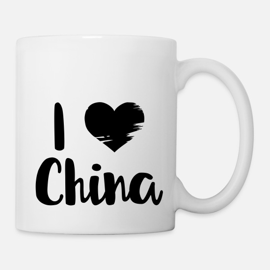 Country Tassen & Becher - I love China - Tasse Weiß