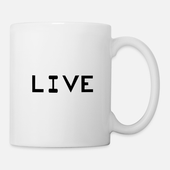 Typography Mugs & Drinkware - live - Mug white