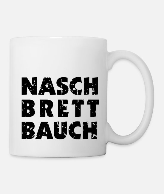 Board Game Mugs & Drinkware - Nash / wash-board stomach - Mug white