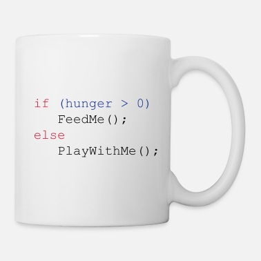 Nerd If hunger feed me else play with me (JavaScript) - Tazza