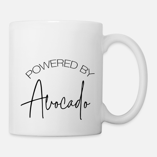 Avocado Mugs & Drinkware - Powered By Avocado - Mug white