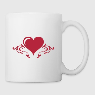 Barockes Herz / Heart with Floral #2_1c - Tasse