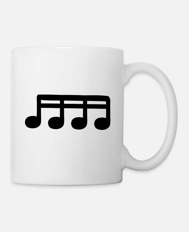Guitar Mugs & Drinkware - sixteenths - Mug white