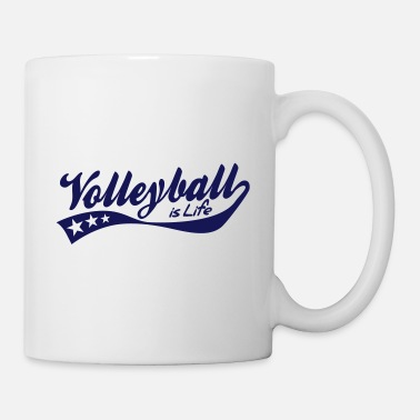Beachvolleyball volleyball is life - retro - Tazza