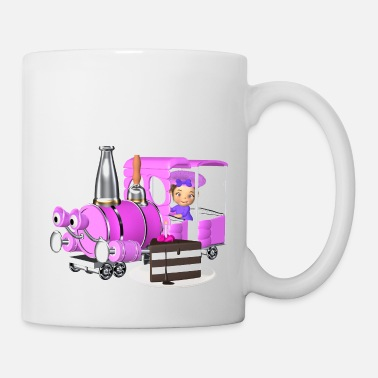 Website Birthday locomotive girl - Mug