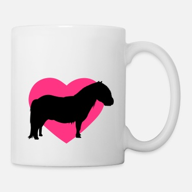 Étalon I love ponies I love Shetty I love horses I heart - Mug