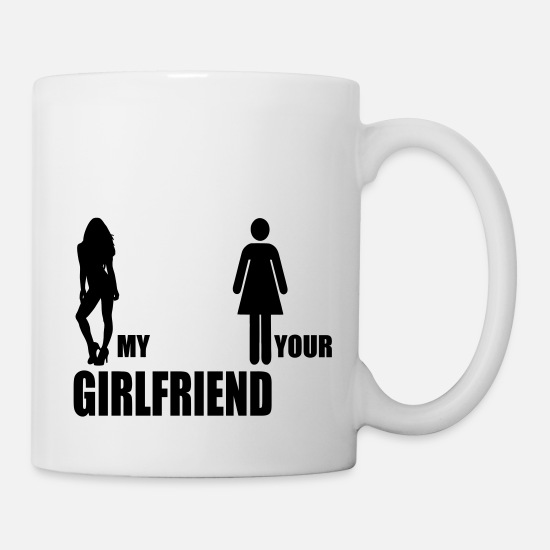 Freundin Tassen & Becher - my girlfriend your girlfriend - Tasse Weiß