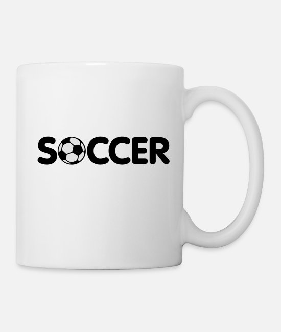 Ball Mugs & Drinkware - Soccer | Fussball - Mug white
