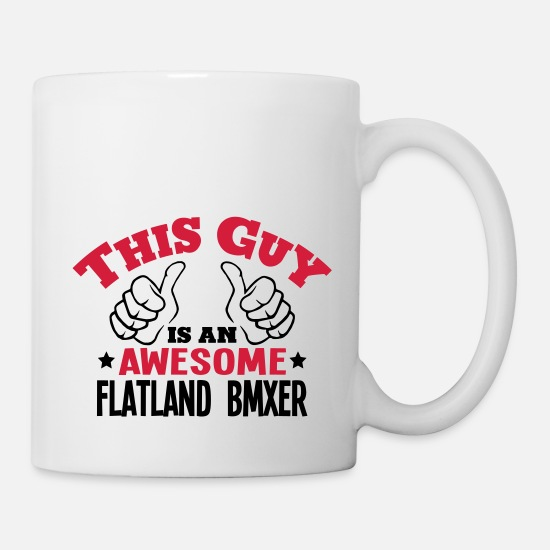 Trick Mugs & Drinkware - this guy is an awesome flatland bmxer 2c - Mug white