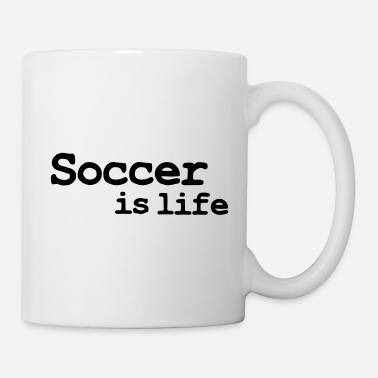 I Love &amp soccer is life - Mug
