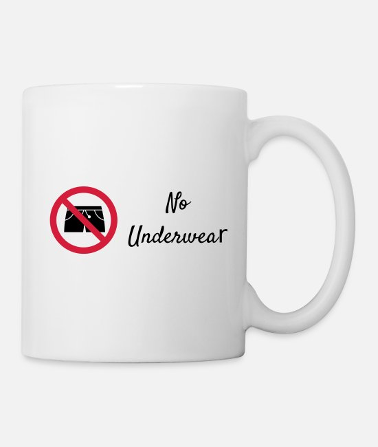 Prohibition Mugs & Drinkware - no underwear funny underwear as a vector graphic - Mug white