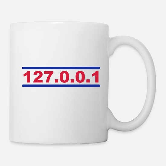 Local Host Mugs & Drinkware - 127.0.0.1 - Mug white